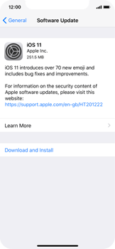 Apple iPhone X - Network - Installing software updates - Step 7