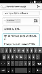 Huawei Y625 - E-mail - envoyer un e-mail - Étape 9