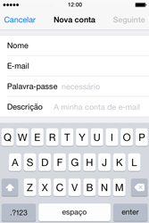 Apple iPhone 4S iOS 8 - Email - Configurar a conta de Email -  9