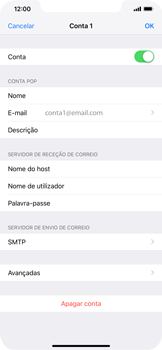 Apple iPhone XS Max - Email - Configurar a conta de Email -  25