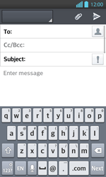 LG P710 Optimus L7 II - E-mail - Sending emails - Step 5