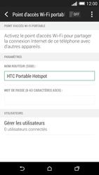 HTC Desire 816 - Internet et connexion - Partager votre connexion en Wi-Fi - Étape 13