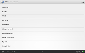 Samsung P7500 Galaxy Tab 10-1 - Mensajería - Configurar el equipo para mensajes multimedia - Paso 12