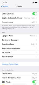 Apple iPhone XR - Rede móvel - Como ativar e desativar o roaming de dados - Etapa 4
