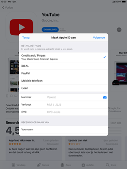 Apple iPad Air 2 - iOS 12 - Applicaties - Account instellen - Stap 18