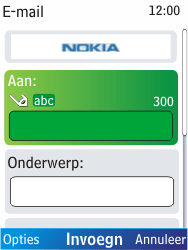 Nokia X2-00 - E-mail - E-mails verzenden - Stap 7