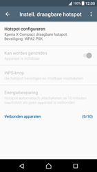 Sony xperia-x-compact-f5321-android-nougat - WiFi - Mobiele hotspot instellen - Stap 10