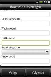 HTC A510e Wildfire S - E-mail - e-mail instellen: IMAP (aanbevolen) - Stap 8