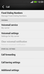 HTC Desire 500 - Voicemail - Manual configuration - Step 5