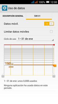 Alcatel Pop C9 - Internet - Activar o desactivar la conexión de datos - Paso 6