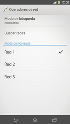 Sony Xperia Z1 - Red - Seleccionar una red - Paso 8