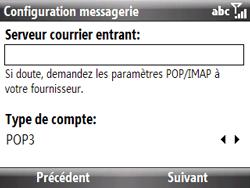 HTC S521 Snap - E-mail - Configuration manuelle - Étape 9