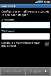 Samsung S5660 Galaxy Gio - E-mail - Handmatig instellen - Stap 6