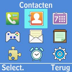 Samsung GT-E1200i - Contacten en data - Contacten kopiëren van SIM naar toestel - Stap 3