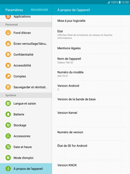 Samsung T815 Galaxy Tab S2 9.7 - Appareil - Mises à jour - Étape 6