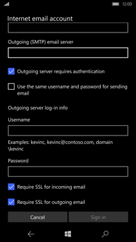 Microsoft Lumia 950 XL - Email - Manual configuration - Step 14