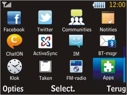 Samsung S3570 Chat 357 - Wifi - handmatig instellen - Stap 2