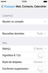 Apple iPhone 4 S iOS 7 - E-mail - Configuration manuelle - Étape 5
