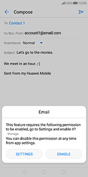 Huawei Mate 10 Pro - Email - Sending an email message - Step 11
