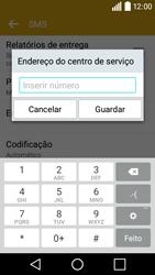 LG Y50 / LEON - SMS - Como configurar o centro de mensagens -  8