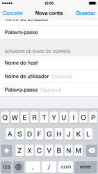 Apple iPhone 5s iOS 8 - Email - Configurar a conta de Email -  14