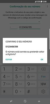 Samsung Galaxy S8 Plus - Aplicações - Como configurar o WhatsApp -  10