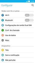 Asus Zenfone 2 - Rede móvel - Como ativar e desativar uma rede de dados - Etapa 4