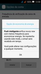 Huawei Y3 - Email - Como configurar seu celular para receber e enviar e-mails - Etapa 8