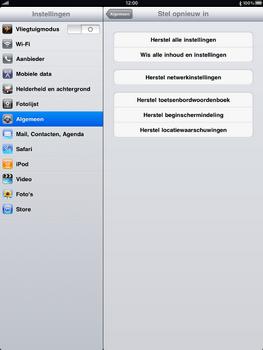 Apple iPad 2 - Instellingen aanpassen - Fabrieksinstellingen terugzetten - Stap 4