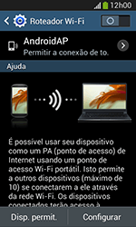 Samsung Galaxy Grand Neo - Wi-Fi - Como usar seu aparelho como um roteador de rede wi-fi - Etapa 10