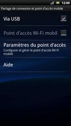 Sony Ericsson Xpéria Arc - Internet et connexion - Partager votre connexion en Wi-Fi - Étape 6