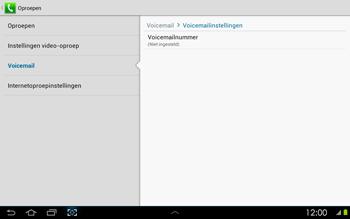 Samsung P5100 Galaxy Tab 2 10-1 - Voicemail - handmatig instellen - Stap 7