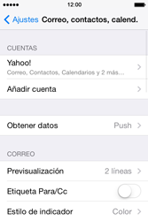 Apple iPhone 4S iOS 7 - E-mail - Configurar Yahoo! - Paso 10