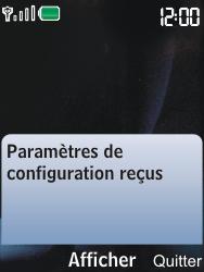 Nokia 6600i slide - MMS - Configuration automatique - Étape 3