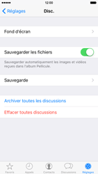 Apple iPhone 6 iOS 9 - WhatsApp - Sauvegarder les discussions WhatsApp - Étape 6