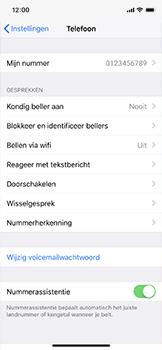 Apple iPhone X - Bellen - WiFi Bellen (VoWiFi) - Stap 4