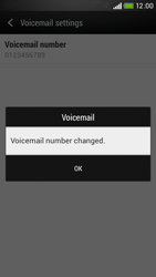 HTC Desire 601 - Voicemail - Manual configuration - Step 8