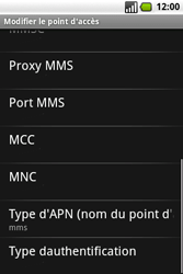 Samsung I7500 Galaxy - MMS - Configuration manuelle - Étape 10