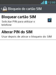 LG L1 II - Segurança - Como trocar o código PIN do seu celular - Etapa 6