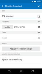HTC One M9 - Contact, Appels, SMS/MMS - Ajouter un contact - Étape 12