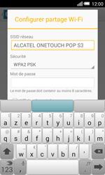 Alcatel OT-5050X Pop S3 - Internet et connexion - Partager votre connexion en Wi-Fi - Étape 8