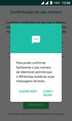 Wiko Sunny DS - Aplicações - Como configurar o WhatsApp -  11