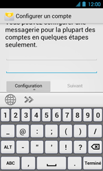 Acer Liquid Glow E330 - E-mail - Configuration manuelle - Étape 5