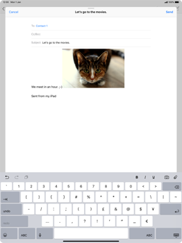 Apple iPad Pro 12.9 (2018) - Email - Sending an email message - Step 12