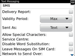 BlackBerry 9320 Curve - SMS - Manual configuration - Step 5