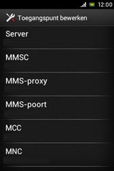 Sony ST23i Xperia Miro - MMS - handmatig instellen - Stap 12