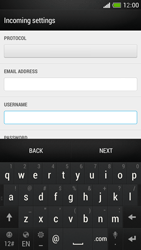 HTC One Mini - E-mail - Manual configuration - Step 8