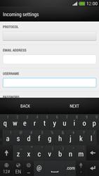 HTC One Mini - E-mail - Manual configuration - Step 8