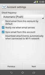 Sony D2005 Xperia E1 - Email - Manual configuration - Step 16