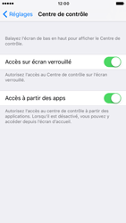 Apple iPhone 6s iOS 10 - iOS features - Centre de contrôle - Étape 4